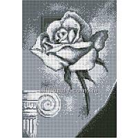 Схема для вышивания бисером Серая роза БИС3-126 (А3)