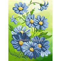 Схема для вышивания бисером Синие цветы БИС4-101 (А4)