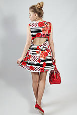 Платье женское летнее яркое цветное короткое Rinacsimento, фото 3