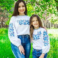 """Красивая женская вышиванка """"Розы в саду-2"""" на рост 158-170см"""