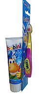 Детская зубная паста «Bobini» 2 в 1 -75мл