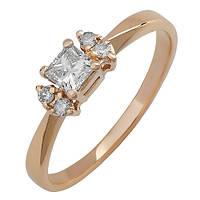 Золотое кольцо с бриллиантами Авалайн 000016033 17.5 размера