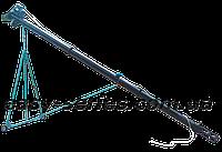 Шнековый транспортер (винтовой конвейер) в трубе 130 мм, длиной 12 м, 12 т\час, двигатель 4.0 кВт.