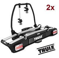 Велобагажник Thule VeloSpace 918. Багажник для перевозки 2-х велосипедов на фаркоп. Велокрепление.Велоплощадка