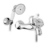 Смеситель для ванны Bianchi Elit с душевым гарнитуром Золото