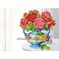 Схема для вышивания бисером Чайная роза на столе БИС4-50 (А4) Габардин