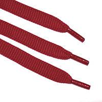 Шнурок 9 мм 120 см плоский красный
