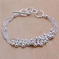 Оригинальный браслет бисер -серебро