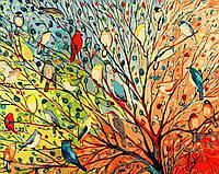 Картина по номерам без коробки Райские птички (BK-GX3962) 40 х 50 см