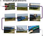 Батут SkyJump 374 см із захисною сіткою і сходами спортивний ігровий, фото 6