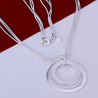Серебряная подвеска на цепочке