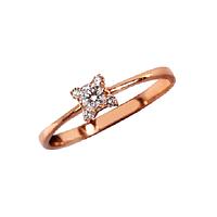 Золотое кольцо Кристинэ с бриллиантами 000019688 17 размера