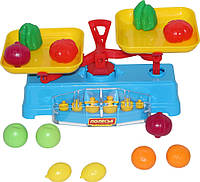 """Игровой набор """"Весы"""" + Набор продуктов (12 элементов) (в сеточке) POLESIE 53787"""