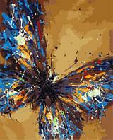 Картина по номерам без коробки Тропическая бабочка (BK-GX8217) 40 х 50 см