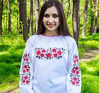 """Красивая женская вышиванка """"Розы в саду"""" на рост 158-170см, фото 1"""