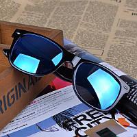 Популярные солнцезащитные очки Wayfarer с зеркальным покрытием темно-зеленого цвета
