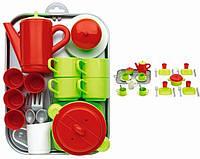 Игровой набор Chef-Cook С посудой и подносом, 32 ел. Ecoiffier 000972