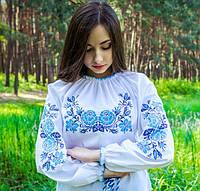 """Яркая вышиванка для девушек """"Розы в саду"""" на рост 158-170см, фото 1"""