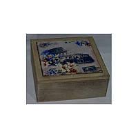 Шкатулка для чая, чайных пакетиков деревянная
