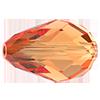 Хрустальные бусины капли Preciosa (Чехия)  13.5х9 мм, Crystal Light Orange