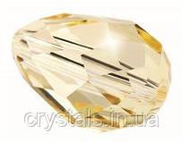 Хрустальные бусины капли Preciosa (Чехия) 13.5х9 мм, Crystal Light Brown