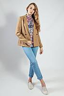 Пиджак женский удлиненный стильный приталенный длинный рукав весна-лето Massimo Dutti