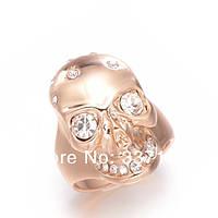 Оригинальное кольцо с австрийскими кристаллами