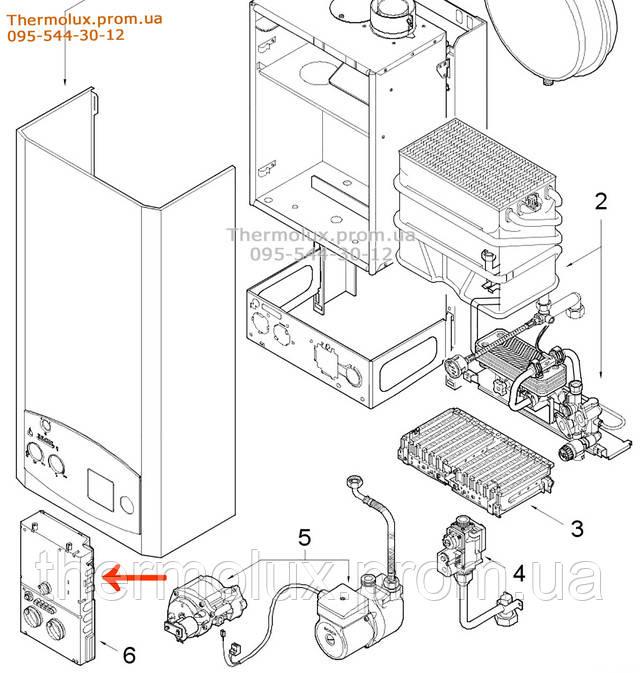 Печатная плата для Junkers ZW23KE-AE на схеме