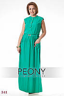 Платье Фиджи (56 размер, зеленый) ТМ «PEONY»