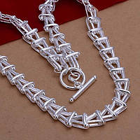 Солидная цепочка стильного плетения  - серебро 925 пр