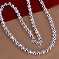 Цепочка шарики 10 мм - серебро 925 пр