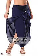 Женские брюки Босфор (50 размер, тёмно-синий) ТМ «PEONY»