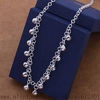 Оригинальное женское украшение цепочка (ожерелье)  -серебро