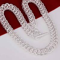 Оригинальная стильная цепочка  Мода Унисэкс-серебро 925 пр