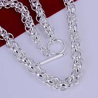 Цепочка Мода  оригинальный замок - серебро 925 пр