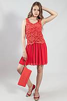 Платье  летнее короткое коралловое  коктельное выпускное Rinascimento
