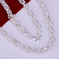 Цепочка стиль оригинал1:1 Унисэкс -  серебро
