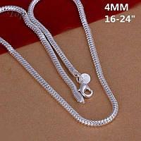 Цепочка стильная змейка  - серебро 925 пр