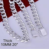 Солидная стильная Уеисэкс цепочка  -серебро 925 пр