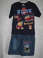 Для мальчика летний костюм футболка+шорты джинс раз 86 Турция
