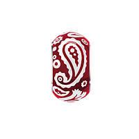 Серебряная бусина с красной эмалью Акварель 000033180