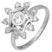 Золотое кольцо с бриллиантами Аделисия 000035635 17.5 размера
