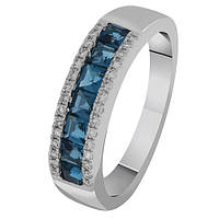 Золотое кольцо с бриллиантами и топазами Морское побережье 17 000035639
