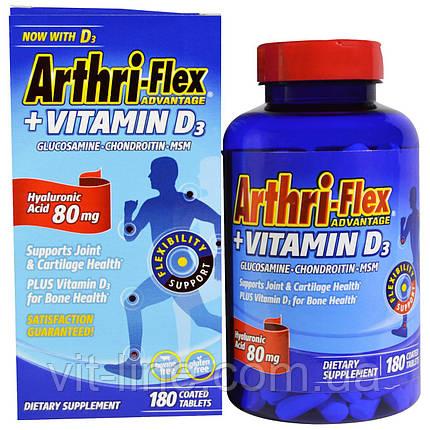 21st Century, Arthri-Flex Advantage, + витамин D3, 180 таблетки, покрытые оболочкой, фото 2