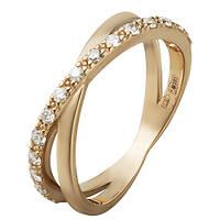 Золотое кольцо с бриллиантами в красном цвете Перекрестки 000036139 16.5 размера