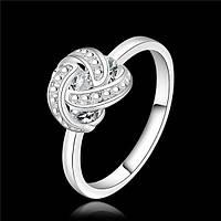 Кольцо нежность красота мода и стиль кристалл - серебро 925
