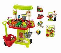 Игровой продуктовый киоск Chef-Cook с тележкой, корзиной и продуктами Еcoiffier 001744