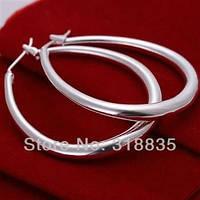 Оригинальные серебряные серьги кольца