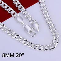 Оригинальная цепочка   8мм 500 мм-серебро 925 пр