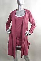 Ночная сорочка на тонких бретелях  и халат  комплект  Niсoletta